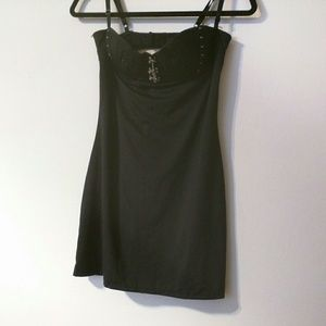Fredericks of Hollywoods Sz L Night Wear Black